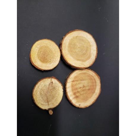 drewniane kształty plastry drewna 40 g PJ-3181