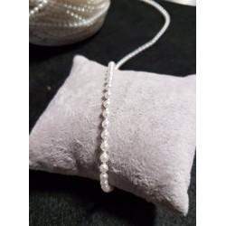 łańcuch perłowy śr.3mm biała perła