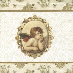 ***serwetka 33x33 BN219 aniołek vintage