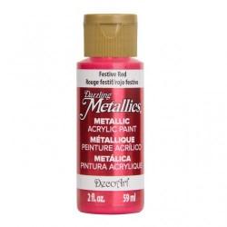 ***decoart farba metaliczna 59 ml DA262 met.czerwo