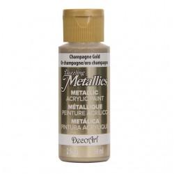 ***decoart farba metaliczna 59 ml DA202 szampański