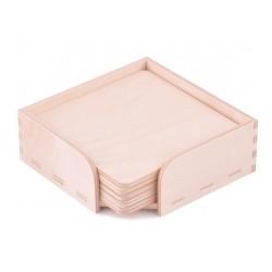 ***pudełko +6 podkładek 10*10cm