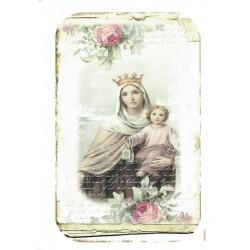 ***papier cienki A-6 2104 Matka Boska dziecię