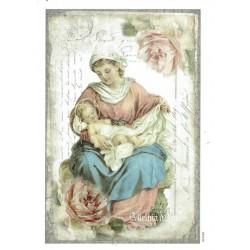 ***papier cienki A-6 1286 Matka Boska dziecię