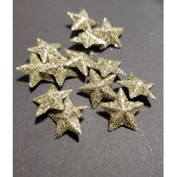 gwiazdki złote op.35szt 1,5cm złote