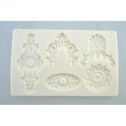 foremka silikonowa barok ornamenty 18,5*11,5cm