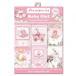 ***stamperia scrap. zestaw 11,4x16,5cm baby girl