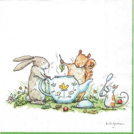 ***serwetka 33x33 W66 królik z myszką