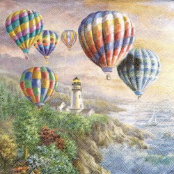 ***serwetka 33x33 I111 latarnia, balony