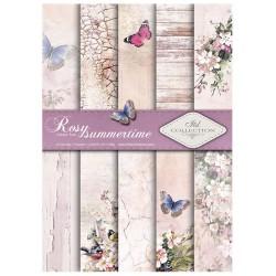 ***zestaw papierów scrap `rose summertime` scrap 0