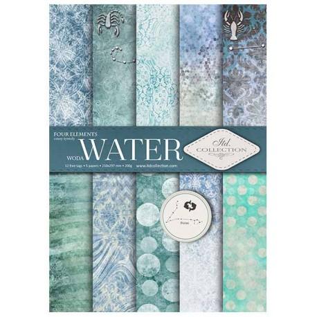 ***zestaw papierów scrap028 `woda`