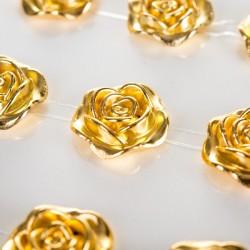 *** róże samoprzylepne złote 15mm