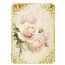 ***papier cienki A-5 1495 bukiet róż vintage