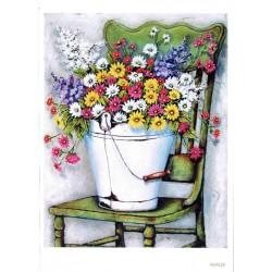 ***papier cienki A-5 339 krzesło, polne kwiaty