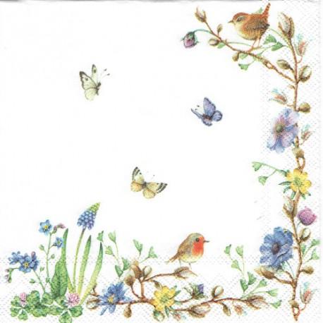 ***serwetka 25*25 K125 kwiaty, motyle