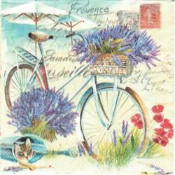 ***serwetka 33*33 K133 lawendowy rower