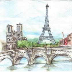 ***serwetka 33*33 I112 Paryż,most