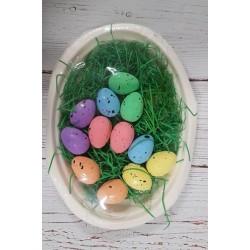 jajka styropianowe kolorowe 4*3cm/ op 12szt