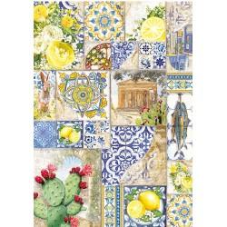 cadence papier ryżowy A-4 CBR097 mozaika, cytrusy