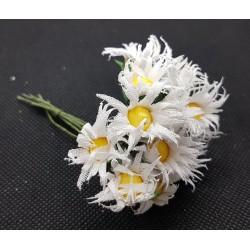 ***kwiatki stokrotki na druciku/ pęczek