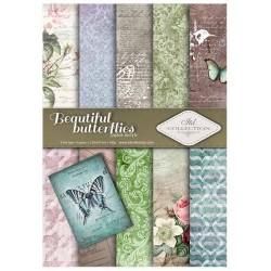 ***zestaw papierów scrap016 `piękne motyle`