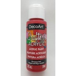 ***farba akrylowa decoart 59ml świąteczna czerwień