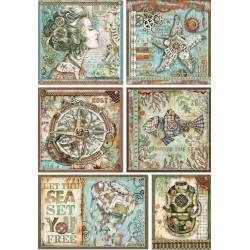 ***papier ryżowy A4 sea world dekoracje DFSA4434