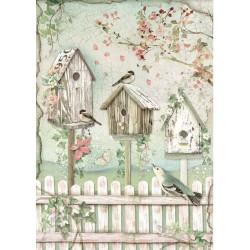 ***papier ryżowy A4 DFSA4448 domki ptaków