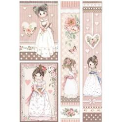 ***papier ryżowy A4 DFSA4452 little girl