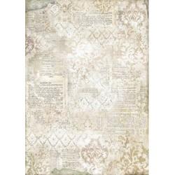 ***papier ryżowy A3 DFSA3060 tło pismo beż