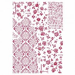 stamperia szablon 21*29,7 cm KSG439 róże, deko