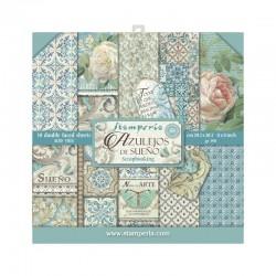 ***stamperia scrap. zestaw 20,3x20,3cm azulejos