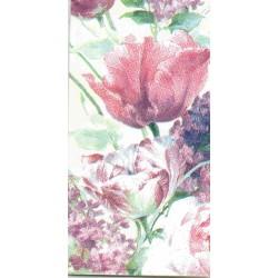 ***chusteczka 21x21 CH10 malowane kwiaty