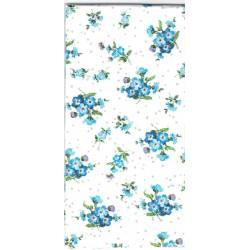 ***chusteczka 21x21 CH12 niebieskie kwiaty