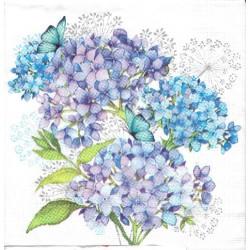 ***serwetka 33*33 K141 niebieska hortensja