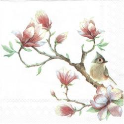 ***serwetka 25*25 K144 ptak, jabłonia