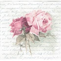 ***serwetka 25*25 V20 róża,pismo