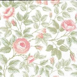 ***serwetka 33*33 K149 róże z liścmi