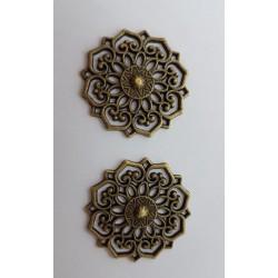 sz.metal dekor płaski 3,3cm/op 2szt