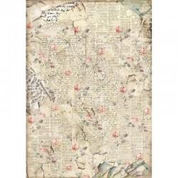 ***papier ryżowy A3 DFSA3056 pismo,róże