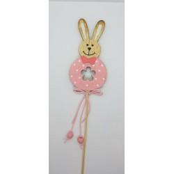 ***królik różowy na piku