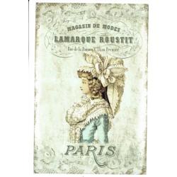 ***papier cienki A-6 1830 dama, paris, vintage