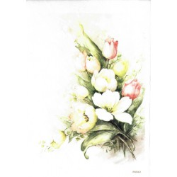 ***papier ryżowy  A-5 2464 bukiet tulipanów