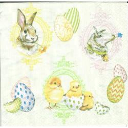 ***serwetka 33x33 W88 kurczaki,jajka